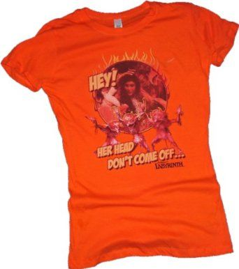 """Her Head Don't Come Off"" -- Labyrinth Crop Sleeve Fitted Juniors T-Shirt $22.95"
