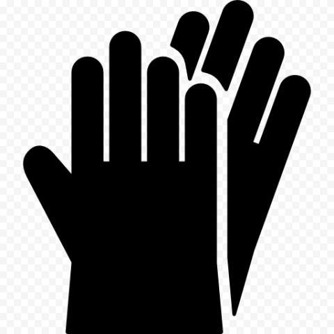 Ppe Hand Gloves Protection Black Sign Symbol Icon Hand Gloves Ppe Signs