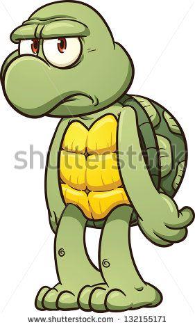 Simple turtle cartoon