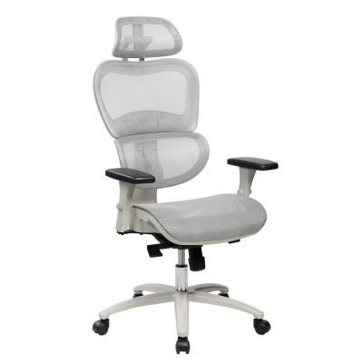 Techni Mobili Gray High Back Mesh Office Executive Chair With Neck