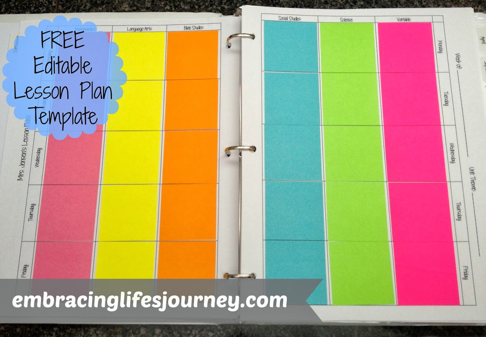 image about Editable Post It Note Template identified as Embracing Lifes Excursion: Totally free editable sticky take note lesson