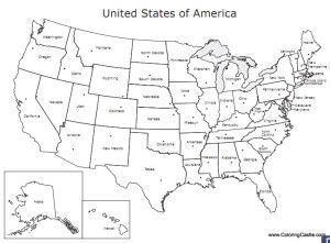 Us Outline Map Printable Free - Printable us map with states