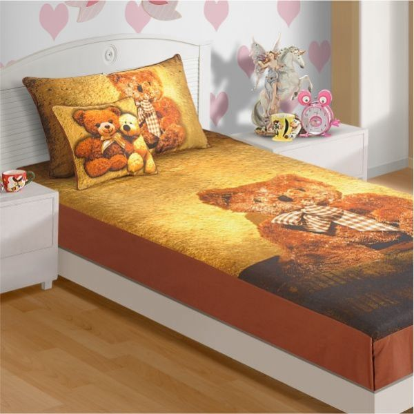 teddy kids bed sheet a huge teddy bear so fluffy and cute - Kid Sheets