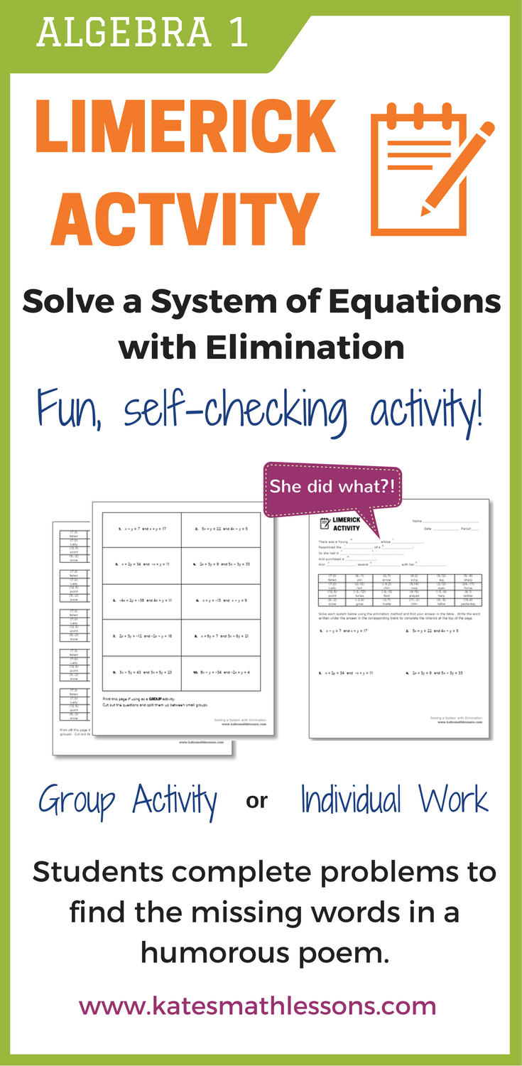 how to use elimination in math