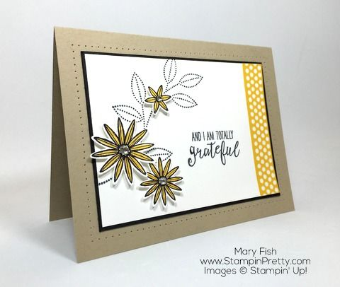 Stampin Up Grateful Bunch Blossom Bunch Punch Thank You Card by Mary Fish