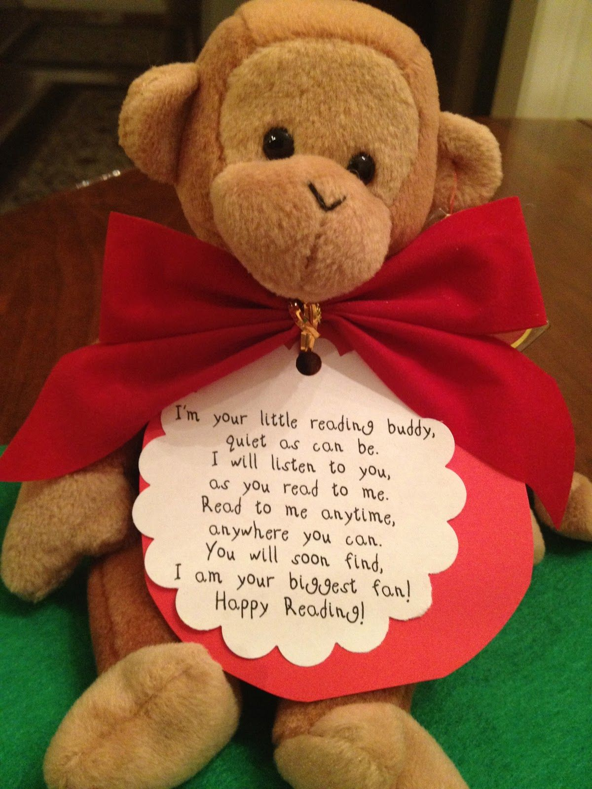 My First Grade Backpack Reading Buddy Poem And T For Christmas