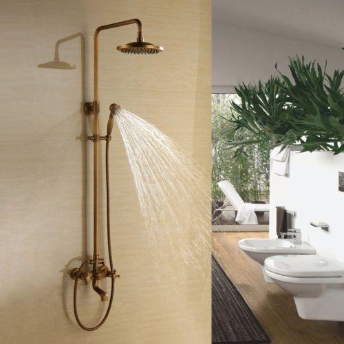 Ts04 Retro Antik Badewanne Dusche Wasserhahn Mit 8 Zoll Duschkopf
