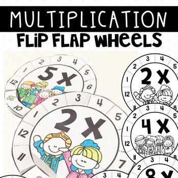 Multiplication Fact Activities Flip Flap Wheels Multiplication Facts Multiplication Multiplication Wheel
