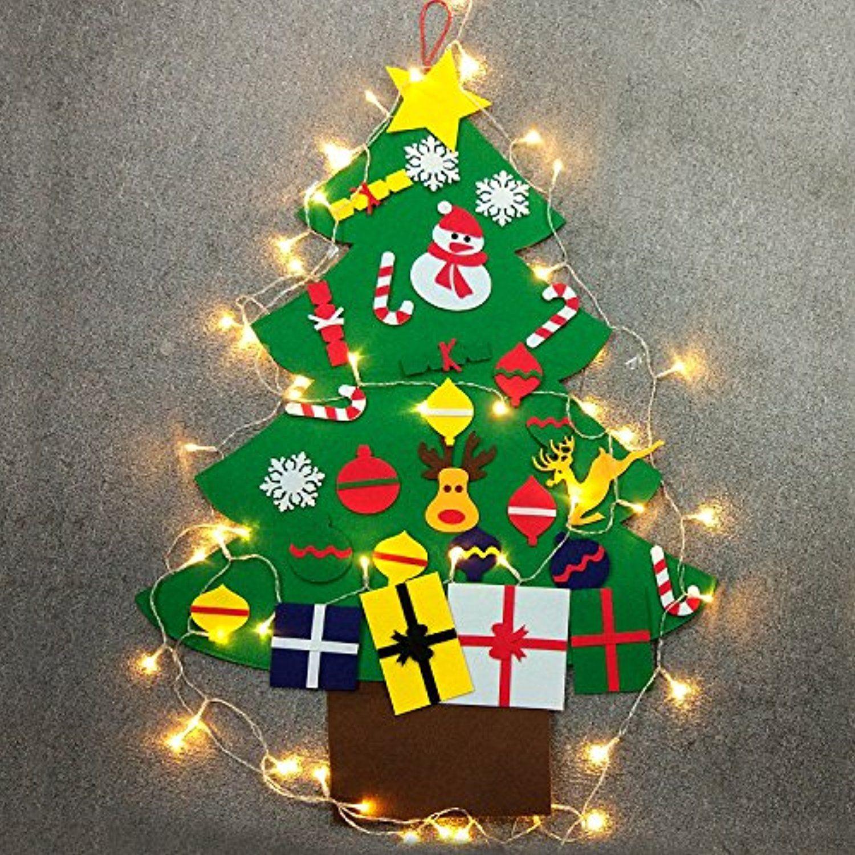 Diy Felt Christmas Tree Christmas Tree Felt With Wall Hanging Ornaments For Kids Todd Diy Felt Christmas Tree Hanging Ornaments Toddler Christmas Decorations