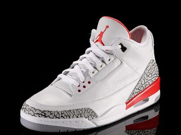 best cheap 382e6 eb125 Las Air Jordan de baloncesto Jordan 3 Katrina de color blanco y rojo -  Valoración de China jugadores Deportes - red de los zapatos