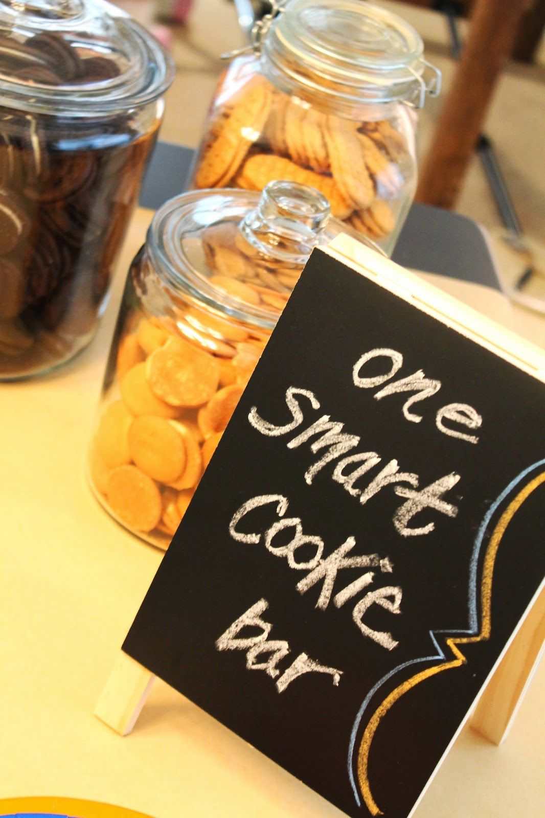 get it together: one smart cookie, graduation party, MBA, cookie bar