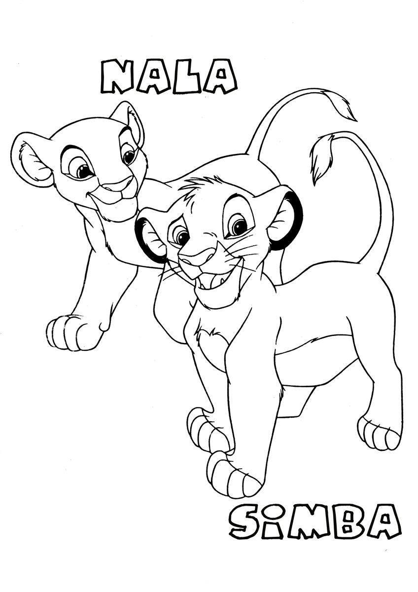 Lion King Coloring Pages Nala King coloring book Lion