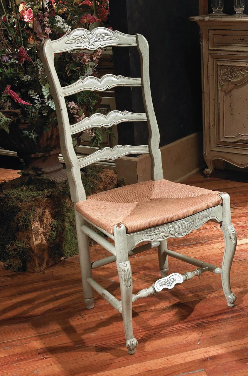 New Country French Side Chair With Rush Seat   Habersham Home