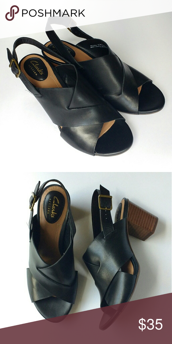 e798be8b0 Clark s Artisan Ralene Vive Heel Sandals Leather Clark s block heel sandals  in very good condition.