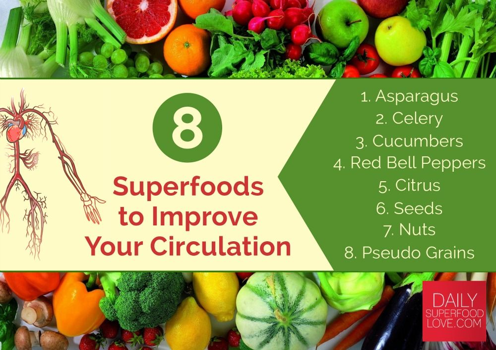 8 Superfoods to Improve Your Circulation Superfoods