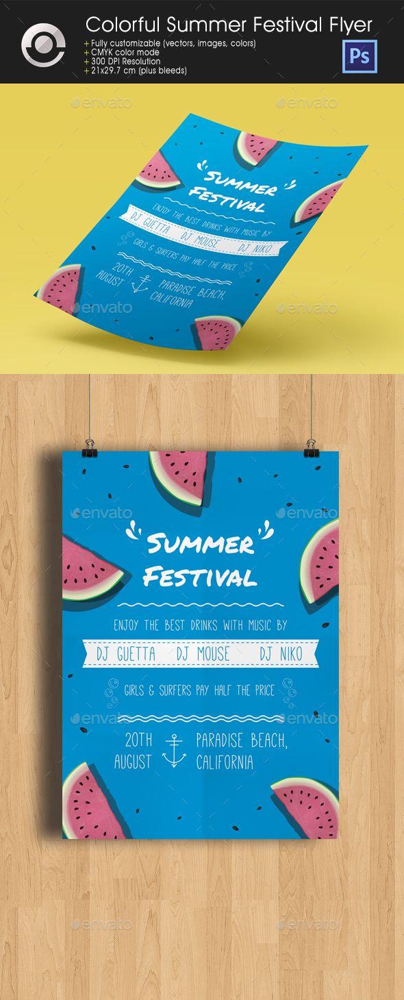 Colorful Summer Festival Flyer