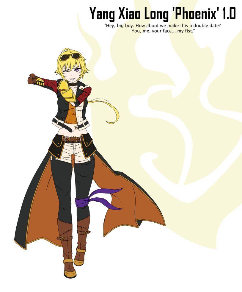 Yang Xiao Long Phoenix Outfit V 1 0 By Gardavwar Rwby Rwby Fanart Character Design References