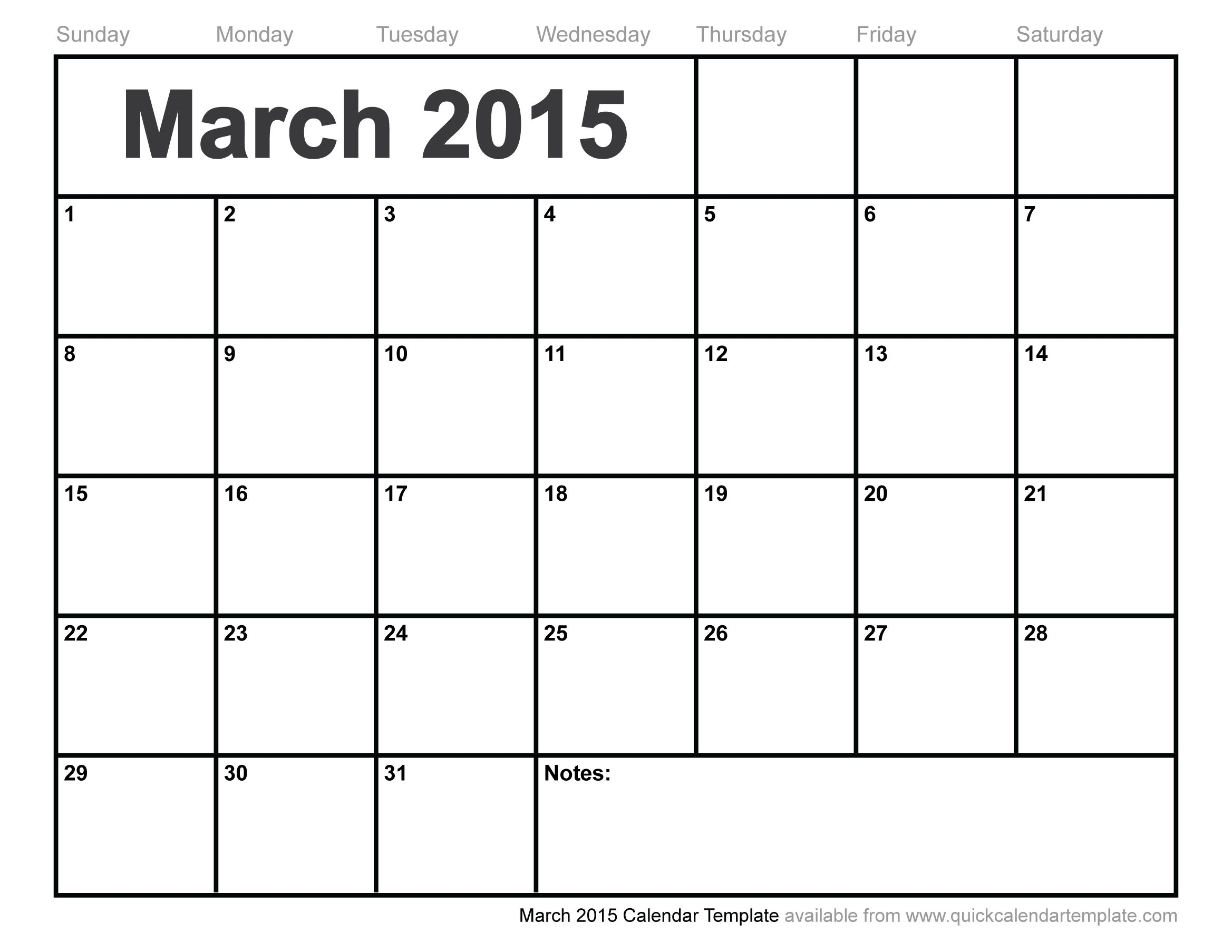 March-2015-calendar-template.jpg (2337×1806) | appointment ...