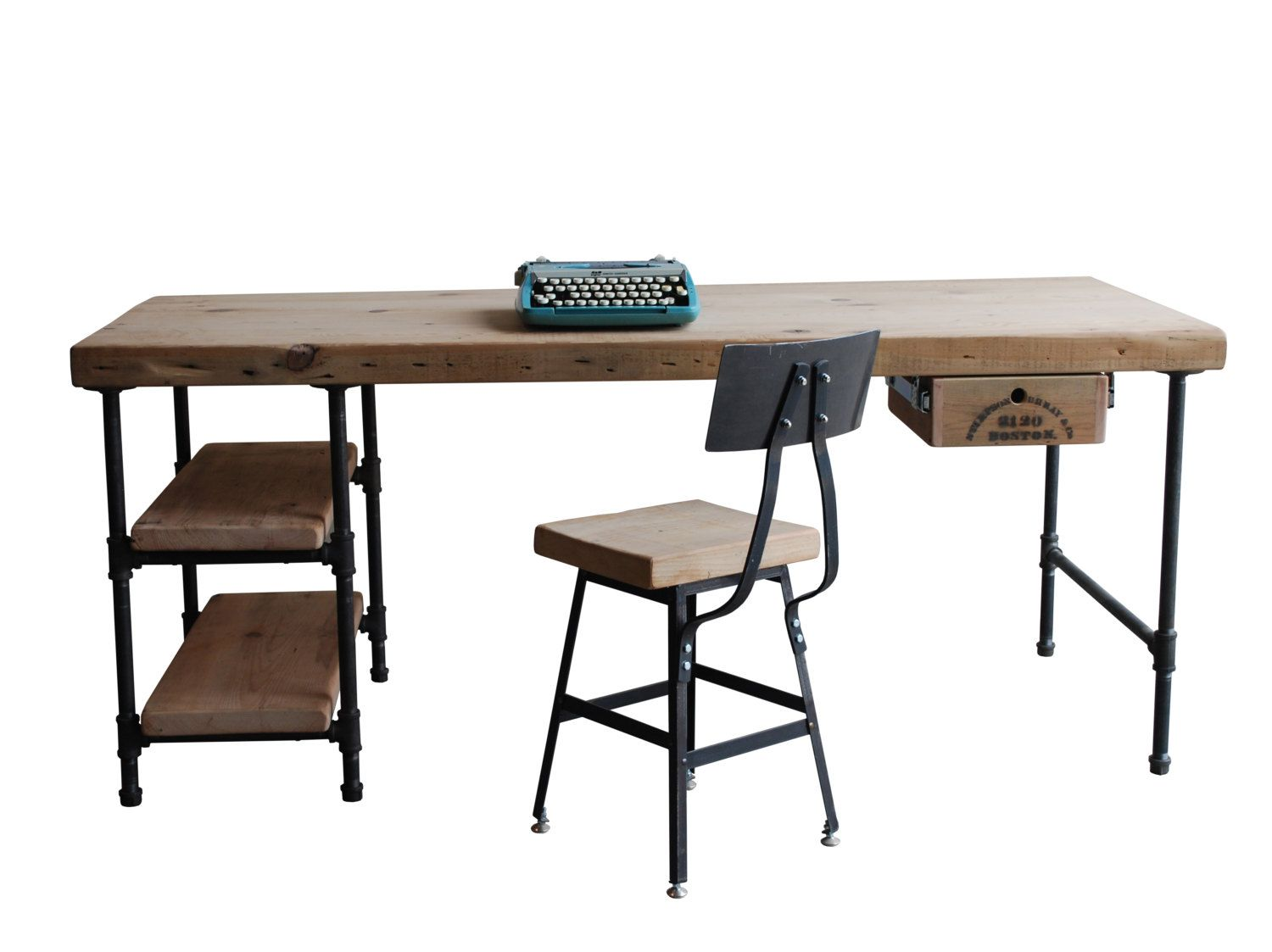 Industrial Modern Desk Made Of Reclaimed Wood Custom Made For You. We Can  Even Make You A Standing Desk! Choose Steel Legs In Modern Industrial