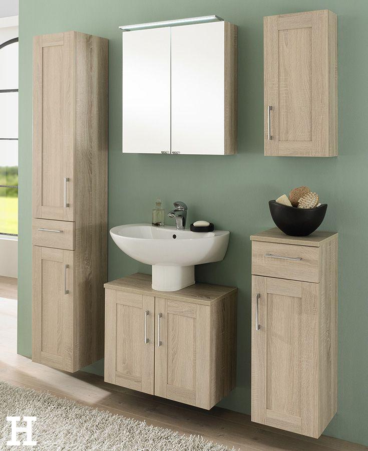 Die 5 Teilige Badkombination Mohnesee Bringt Einen Naturlichen Look In Ihr Bad Bestehend Aus H Waschbeckenunterschrank Badezimmer Set Badmobel Set