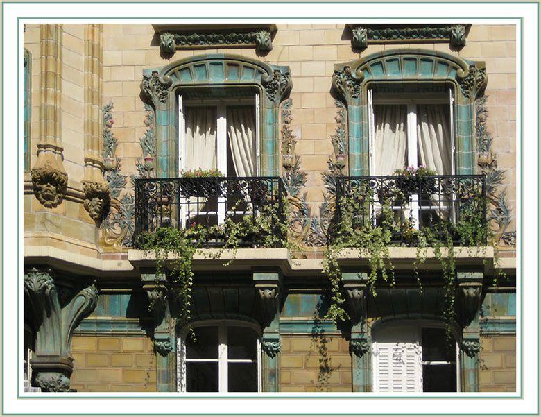 Paris Art Nouveau - rue Eugène Manuel (architecte Charles Klein ...