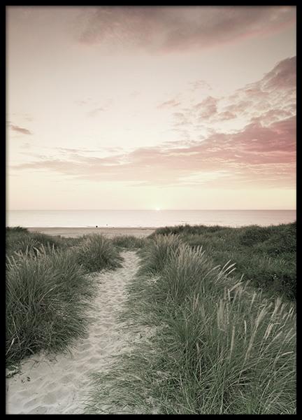 Ocean Sunset Poster Med Billeder Naturbilleder Fotokunst Plakater