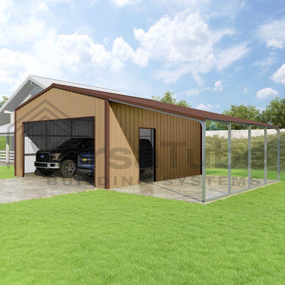 Summit Garage with Lean To 20 x 20 x 10 Garage or