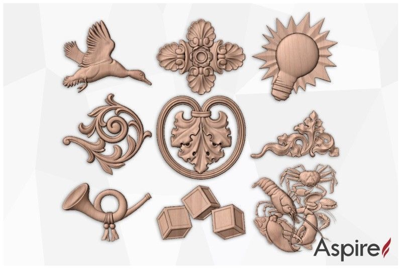 Vectric Aspire 3d Clipart Library Aspire Relief 3d Models Clip Art 3d Model Arabic Pattern