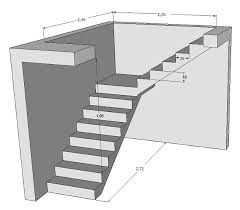 image result for calcul escalier avec palier build in 2019 staircase design interior stairs. Black Bedroom Furniture Sets. Home Design Ideas