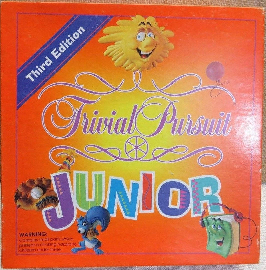 Trivial Pursuit Junior Third Edition 1994 Lets Play A Game Trivial Pursuit Junior