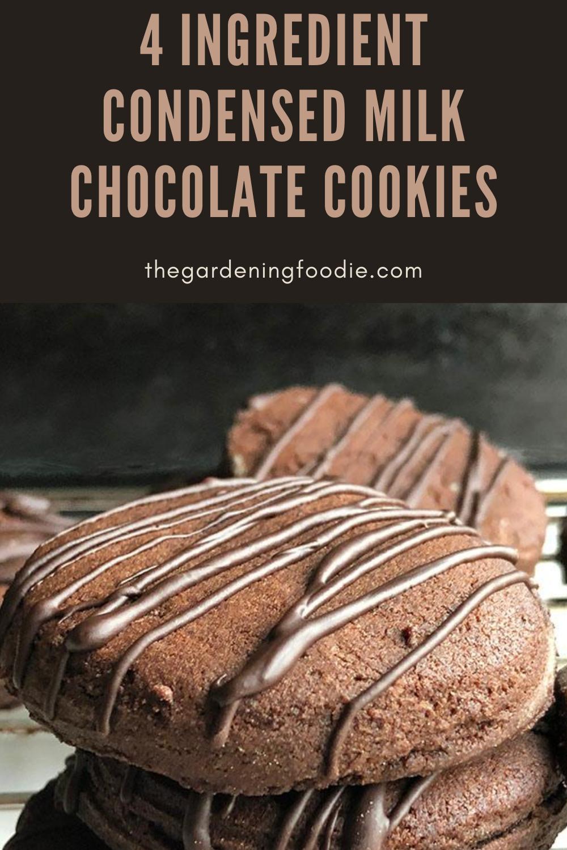 4 Ingredients Condensed Milk Chocolate Cookies In 2020 Easy Dessert Recipes Quick Chocolate Cookies Dessert Recipes Easy
