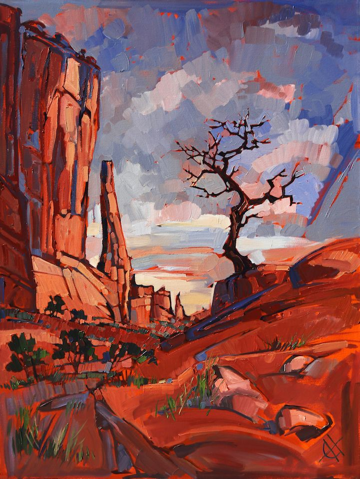 Energetic Landscape Paintings Portray Artist Erin Hanson's Love for National Parks is part of Art painting, Landscape paintings, Oil painting landscape, Abstract landscape painting, Landscape paintings acrylic, Art - Artist Erin Hanson uses painting as a way to express her love for America's diverse array of National Parks  As an avid rock climber, hiker, and
