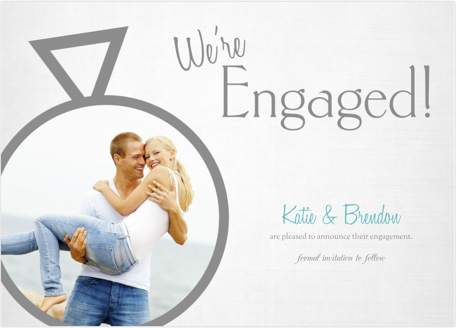 Mixbook Custom 5x7 Flat Engagement Announcement Cards ...