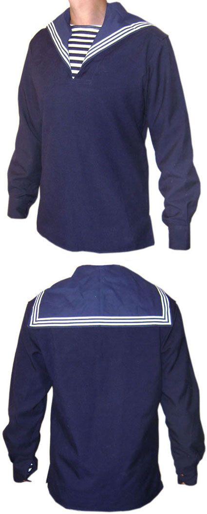 SAILOR VEST with sailor collar dark blue