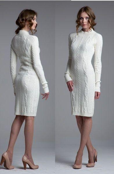 2020 Beyaz Triko Elbise Modelleri Sik Ve Dikkat Cekici Kazak Elbiseler Kazak Elbise Elbiseler Elbise Modelleri