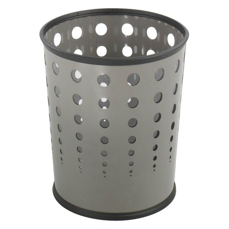Safco Products Bubble 6 Gallon Wastebasket - Set of 3 Gray