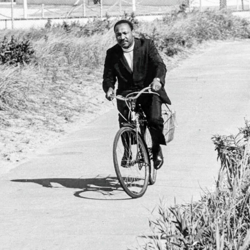 426a3332380 Martin Luther King Jr rides a bike