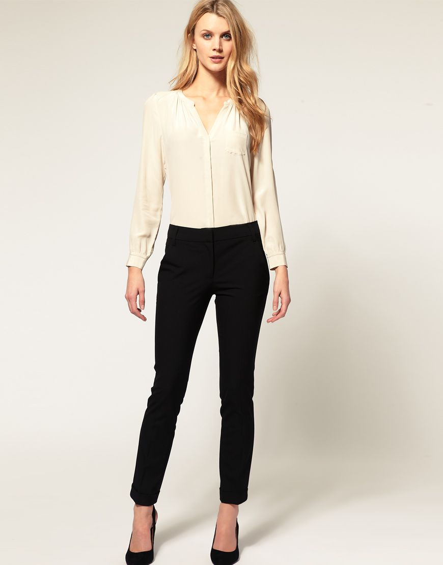 Love everything about this outfit: the skinny trousers, the ...