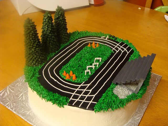 track and field cake 003 Fields Cake and Birthday cakes