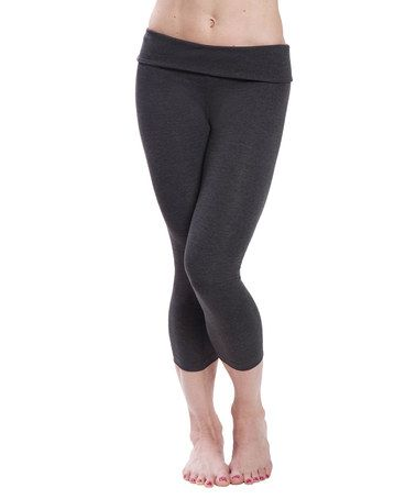 af491f025 Take a look at this Heather Gray Capri Leggings on  zulily today ...
