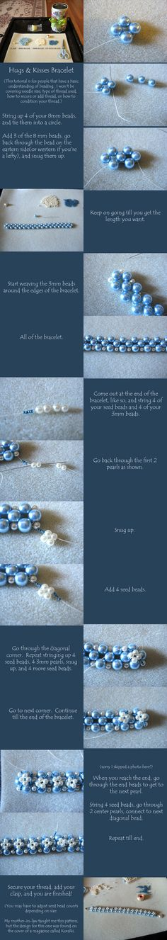 Hugs and kisses beaded bracelet tutorial | figure 8 hugs and.