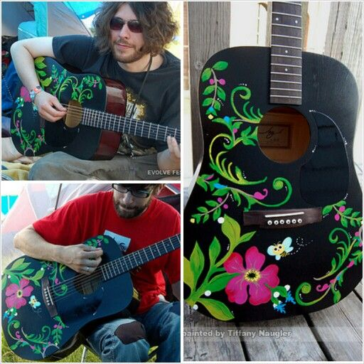Hand painted guitars...