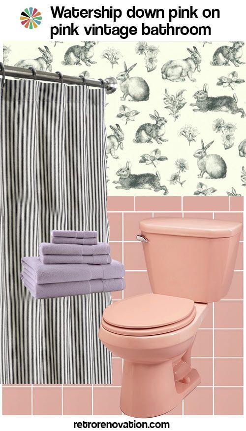 Vintage Pink On Bathroom