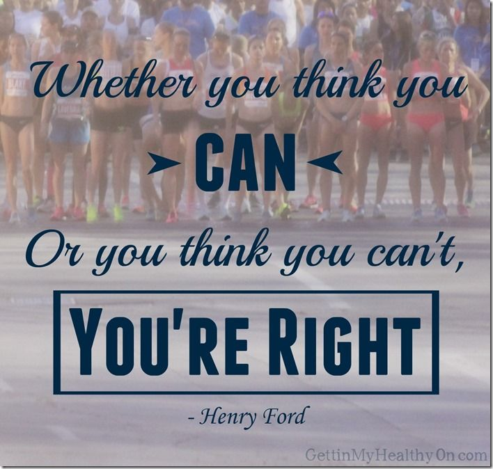 Whether you think you can or think you can't...you're right. - Henry Ford #fitnessquotes