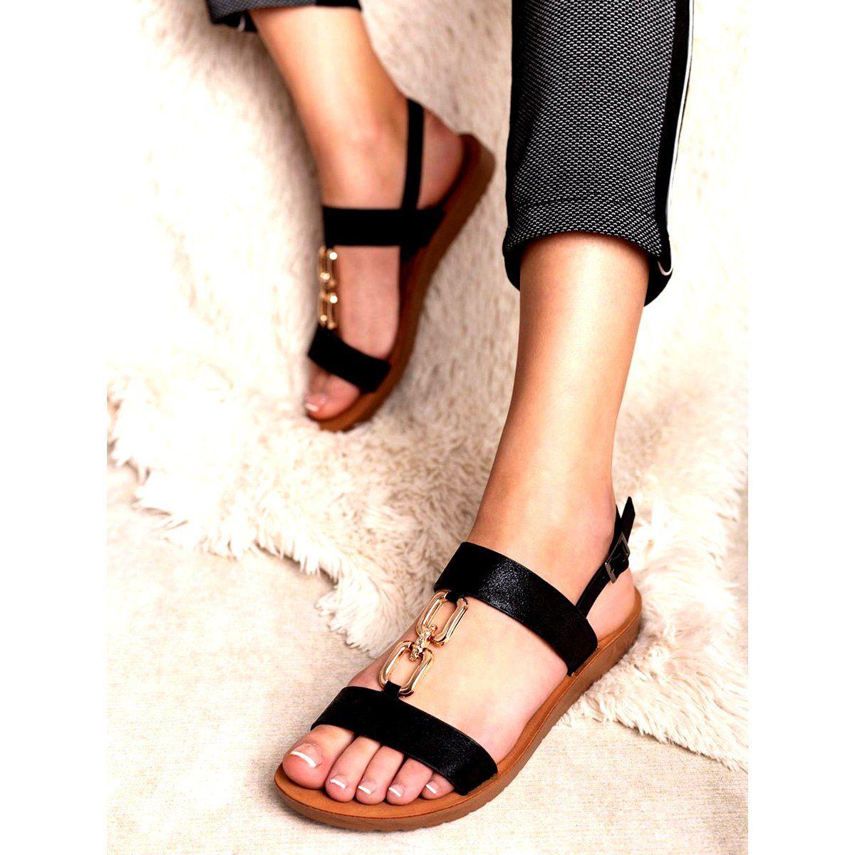 Plaskie Sandalki Vinceza Czarne Sandal Espadrille Espadrilles Shoes