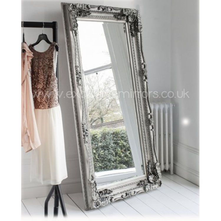 Full length silver edward mirror 179 x 89cm bedrooms for Full length wall mirrors for bedroom