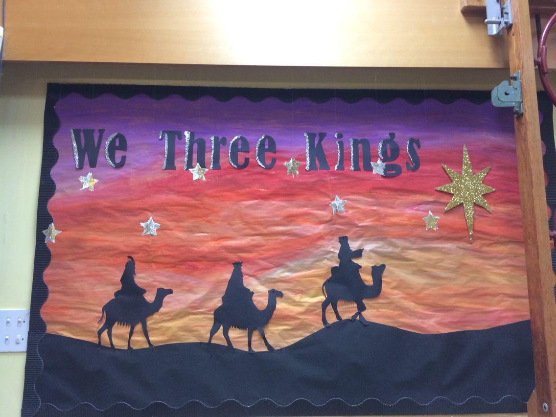 We Three Kings Christmas Display Board