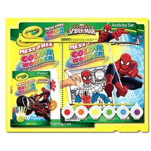 Crayola Spiderman Color Wonder Gift Set Walmart Com Spiderman Gifts Color Wonder Cool Coloring Pages