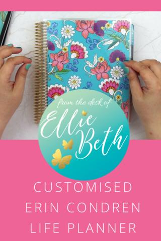 Planner Update June 2018 Customised Erin Condren