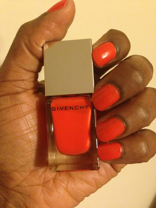 dark orange nail polish - 600×800